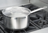 Vigor 6 Qt. Stainless Steel Aluminum-Clad Straight Sided Sauce Pan