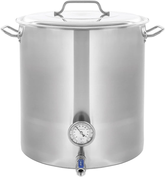 CONCORD Stainless Steel Home Brew Kettle Stock Pot (Weldless Fittings) (180 QT/ 45 Gal)