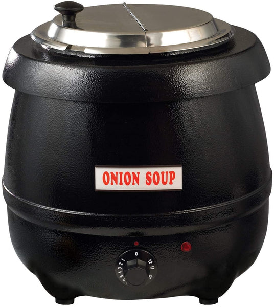 Winco ESW-66 Electric Soup Warmer, 10.5-Quart,Black