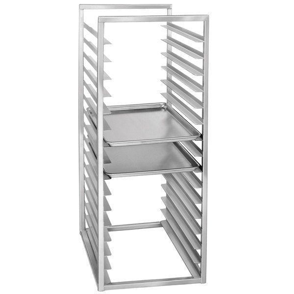 "Reach In Racks- Channel RIR-24KD 24 Pan Aluminum End Load 20 1/2"" x 23"" x 51"" Sheet / Bun Pan Rack for Reach-Ins"
