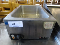 Anvil Stainless Steel Commercial Countertop Food Warmer. 120 Volts, 1 Phase. 15x22.5x9- Full Size Hotel Pan