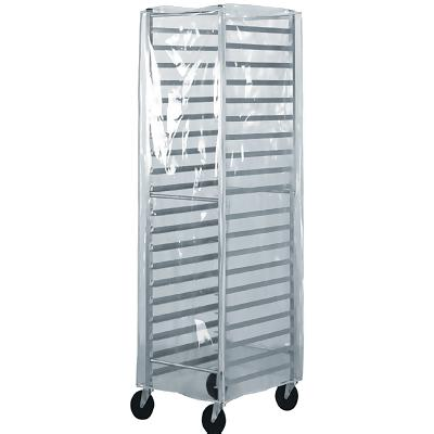 Winco 20 Pan End Load Bun / Sheet Pan Rack with Non-Marking Casters and Zippered Cover