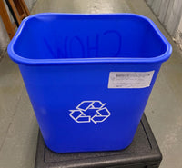 Lavex Janitorial 28 Qt. / 7 Gallon Blue Rectangular Recycling Wastebasket