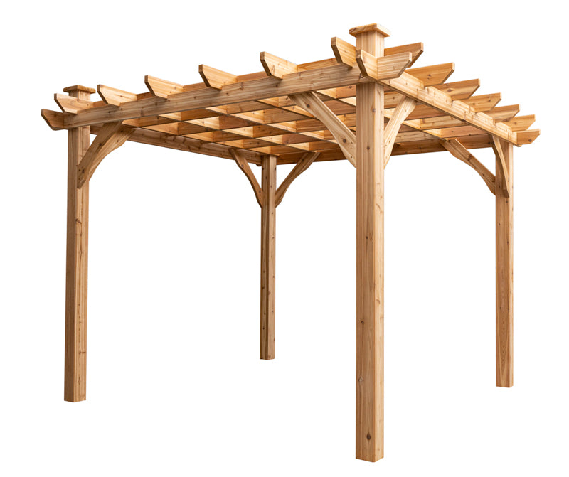 ten by ten cedar pergola kit