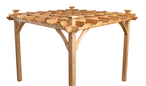 square ten by ten cedar pergola diy