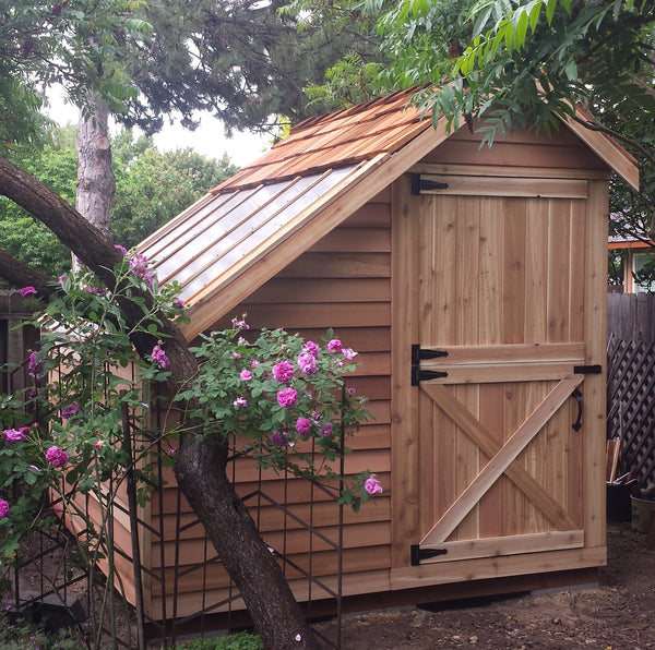 Small cedar greenhouse kits wooden greenhouse sheds for Small shed kits