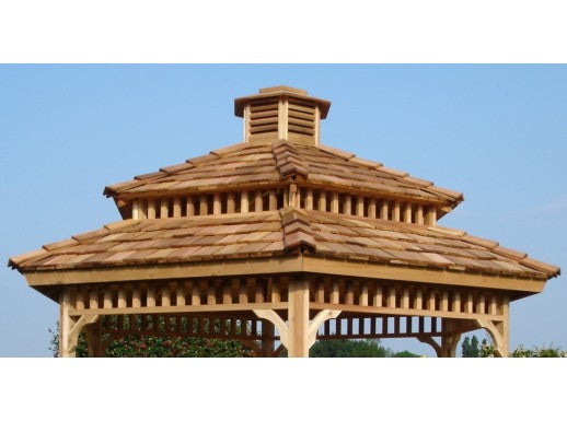 Hexagon Or Octoagon Two Tier Roof Gazebo Option