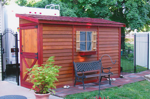 bayside cedarshed beautifully stained