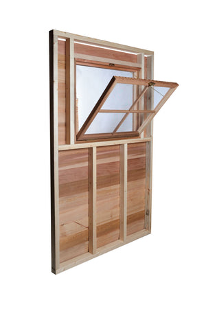 functional shed window with screen option