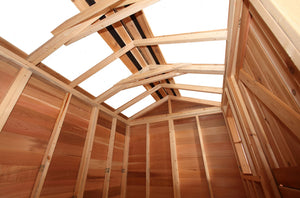 hobby house rafters and skylight