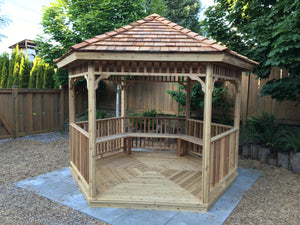Hexagon Gazebos for sale - 8ft & 10ft