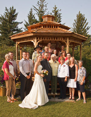 wedding gazebo with two tier roof and cupola
