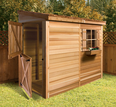 Yard Storage Sheds 8 x 4 Shed DIY Lean to Style Plans u0026 Designs | Cedarshed USA & Yard Storage Sheds 8 x 4 Shed DIY Lean to Style Plans u0026 Designs ...