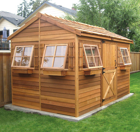 Cedarshed Beachouse Kit with awning windows