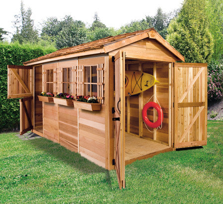 Attrayant Boathouse For Kayak Storage; Beautiful Grey Boathouse Kit ...