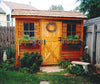 Cedar Cabana with window boxes