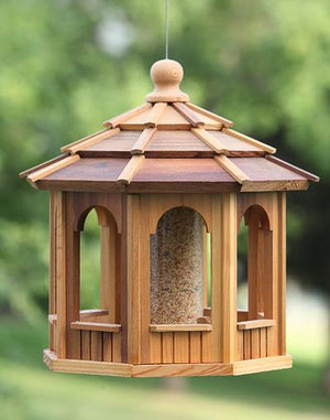 Cedarshed cedar octagon gazebo bird feeder