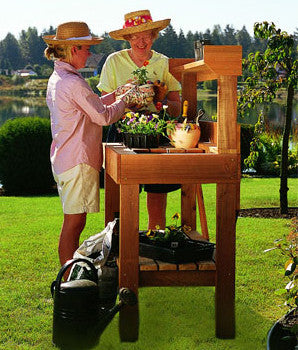 Garden Potting Bench Kits Cedar Potting Benches With Sink