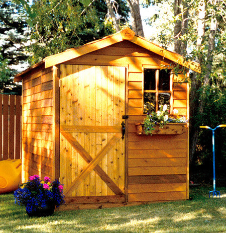Cedarshed Gardener Shed Kit; Small Garden Storage Shed ...