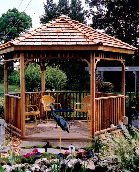 Hexagon Gazebos Garden Hexagonal Kits Six Sided Gazebo