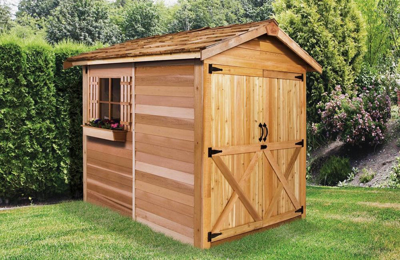 large cedar shed kits