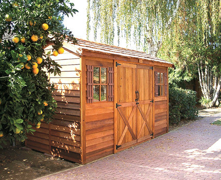 Double Door Sheds Backyard Cottages Garden Cottage Kits Shed - Backyard cabin kits
