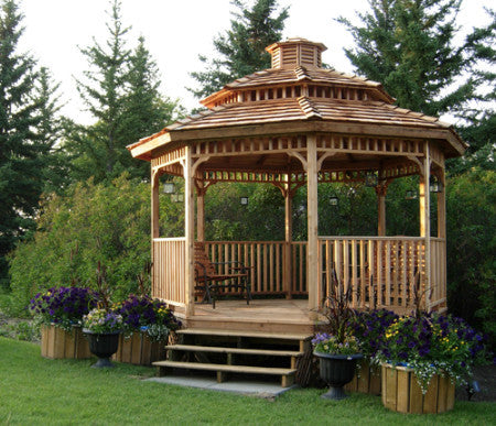 Octagon Gazebos Octagonal Gazebo 14 Gazebo Patio Kits