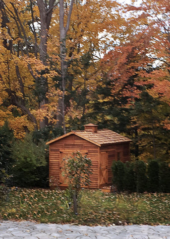 rancher shed in autumn
