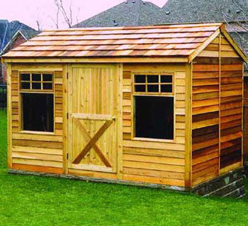 Small Cabin Kits Cedar Cabins Backyard Studio Sheds DIY Plans - Backyard cabin kits