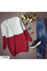 Women's Bi-color Tricot Cardigan