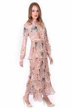 Load image into Gallery viewer, Women's Pleated Patterned Modest Long Dress