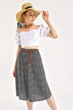 Load image into Gallery viewer, Women's Floral Pattern Viscose Midi Skirt