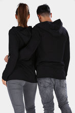 Load image into Gallery viewer, Unisex Hooded Black Jacket