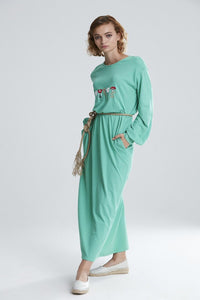 Women's Embroidered Long Dress