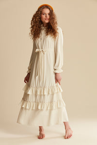 Women's Ruffle Long Dress