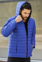 Load image into Gallery viewer, Men's Hooded Saxe Coat