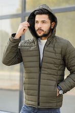 Load image into Gallery viewer, Men's Hooded Khaki Coat