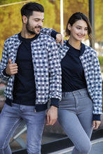 Load image into Gallery viewer, Unisex Patterned Navy Blue Jacket