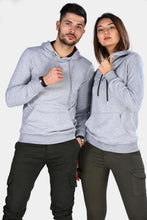 Load image into Gallery viewer, Unisex Hooded Grey Sweatshirt