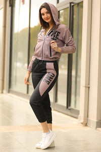 Women's Hooded Printed Sweat Suit