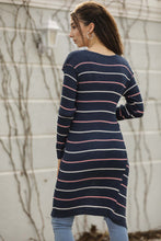 Load image into Gallery viewer, Women's Striped Indigo Cardigan