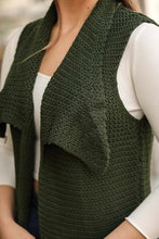 Load image into Gallery viewer, Women's Oversize Khaki Tricot Vest