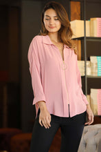 Load image into Gallery viewer, Women's Zipped Powder Rose Shirt