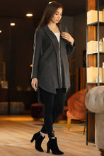 Load image into Gallery viewer, Women's Zipped Anthracite Coat