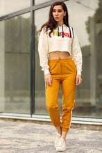 Load image into Gallery viewer, Women's Side Striped Mustard Pants