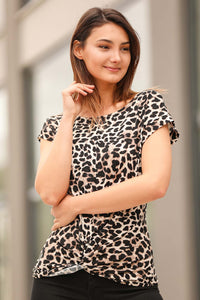 Women's Leopard Pattern Blouse