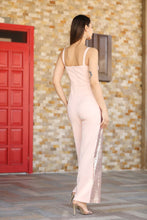 Load image into Gallery viewer, Women's Sequined Powder Rose Overalls