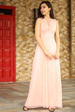 Load image into Gallery viewer, Women's Sequin Powder Rose Evening Dress