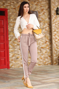 Women's Side Striped Mink Pants