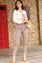 Load image into Gallery viewer, Women's Side Striped Mink Pants